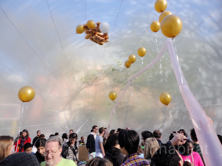 Giant Space Bubble Descends on Central Park