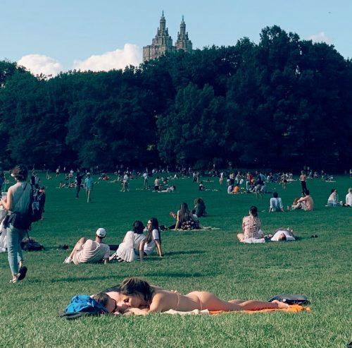 Sunbathing in Central Park